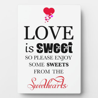 Sweetheart Candy Buffet Plaque