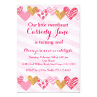 Sweetheart Heart Birthday Invitation