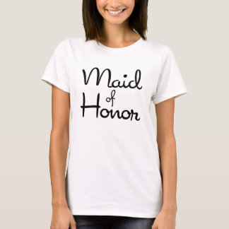 Sweetheart Maid of Honor Baby Doll T-Shirt