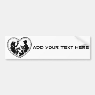 Sweetheart Silhouette Valentine Heart Bumper Sticker