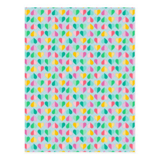 Sweethearts in Multi Pastels on Sky Blue Post Cards