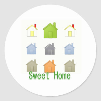 SweetHome House Warming Party Round Sticker