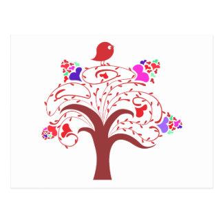 sweetie bird and love tree postcard