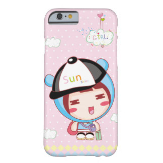 Sweetie Cute Blue Cap Girl Barely There iPhone 6 Case