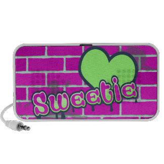 sweetie cute graffiti ghetto design PC speakers