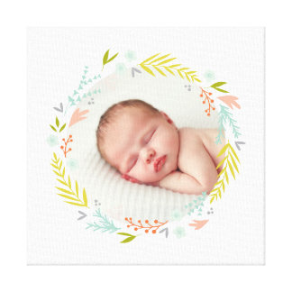 Sweetly Wreathed Photo Canvas Print