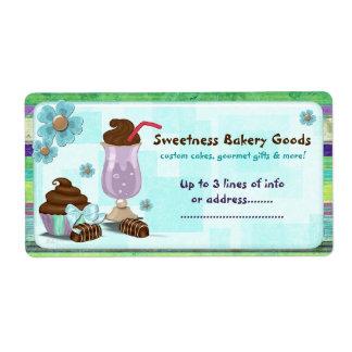 Sweetness Bakery CUSTOM CAKE BUSINESS HOME Shipping Label