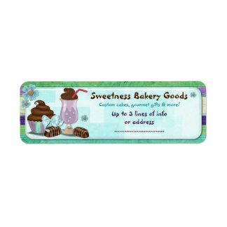 Sweetness Bakery CUSTOM CAKE BUSINESS HOME Return Address Label