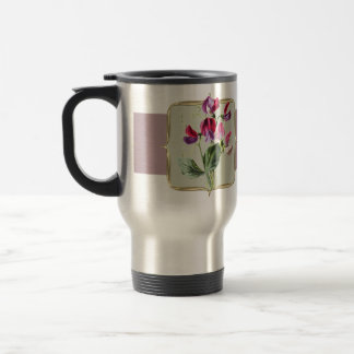 Sweetpea Vintage Flowers Wide Travel Mug