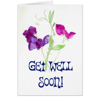 sweetpeasgetwell greeting card
