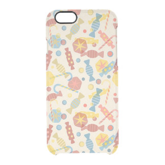 Sweets And Candy Pattern Clear iPhone 6/6S Case