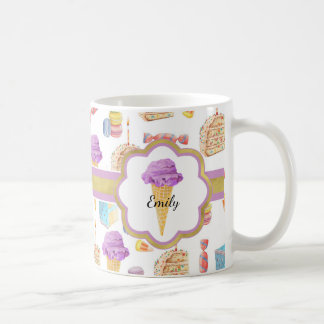 Sweets and Treats Monogrammed Coffee Mug