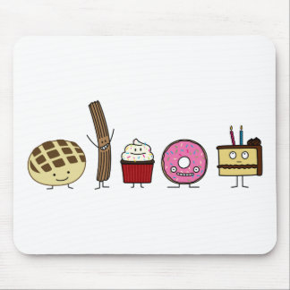 Sweets bread pan dulce churro donut cake cupcake mouse pad