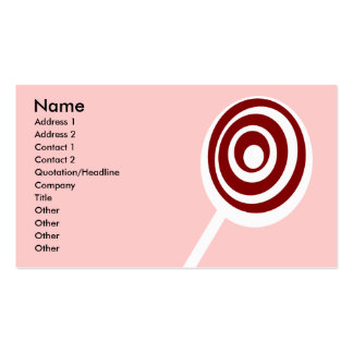 sweets pack of standard business cards