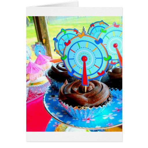 Sweets Cupcake Cake Party Shower Congratulations Greeting Cards