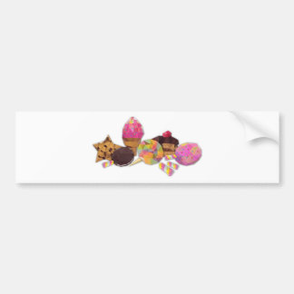 Sweets made by triangles bumper sticker