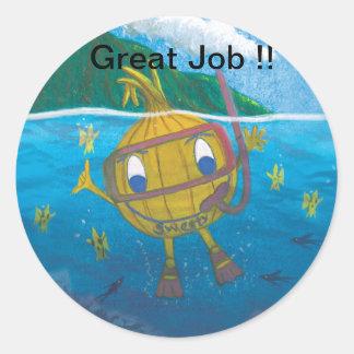 sweetyonion snorkeler classic round sticker