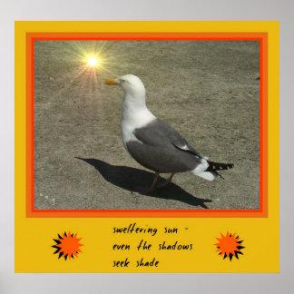 Sweltering Sun Haiku Art Print