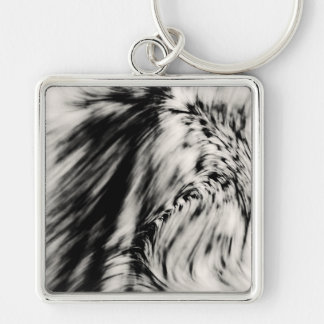 Swerve Silver-Colored Square Key Ring