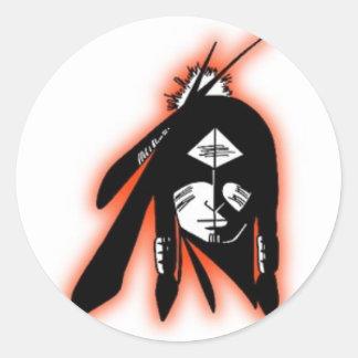 SWHS74 IndianLogo Design Collection Classic Round Sticker