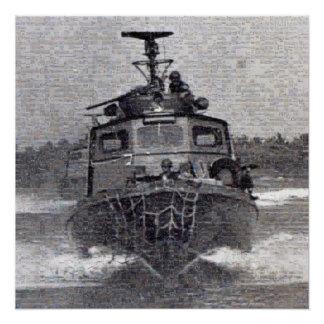 Swift Boat Photo Mosaic Poster