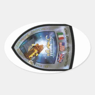 Swift Gamma-Ray Burst Mission Oval Sticker