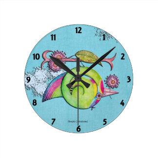 Swift Parrot Sky Wall Clocks
