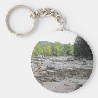 "Swift River 2.25"" Basic Button Keychain"
