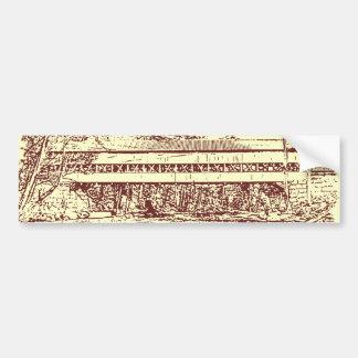 Swift River Covered Bridge Sketch Bumper Sticker