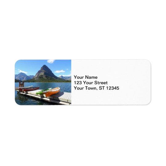 Swiftcurrent Lake Boats- Glacier National Park Return Address Label