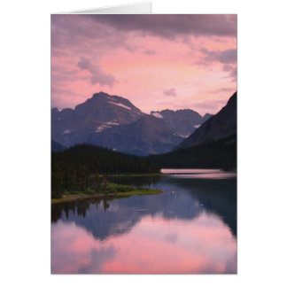 Swiftcurrent Lake, Glacier National Park, Montana Card