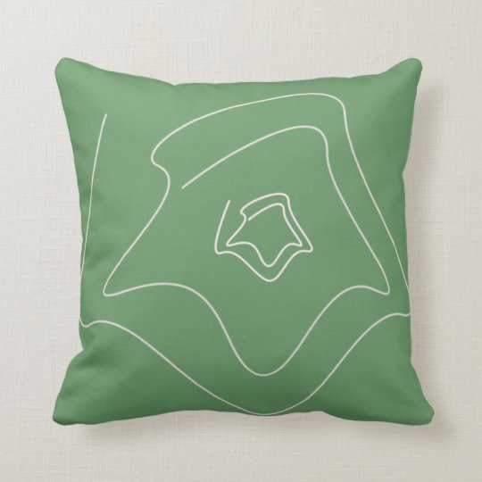 swiggily lines with green background modern pillow