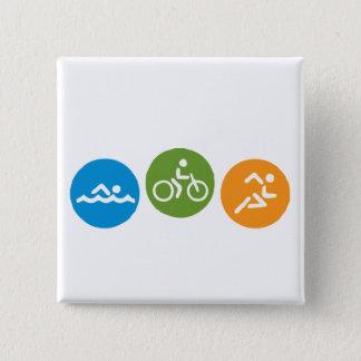 Swim Bike Run 15 Cm Square Badge