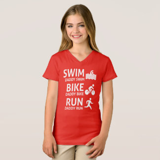 Swim Bike Run Daddy - Triathlon T-Shirt