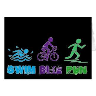 Swim Bike Run Ironman Triathlon Race Triathlete Card