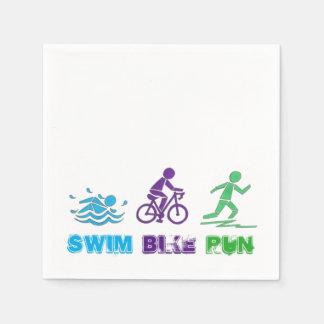 Swim Bike Run Ironman Triathlon Race Triathlete Disposable Serviette