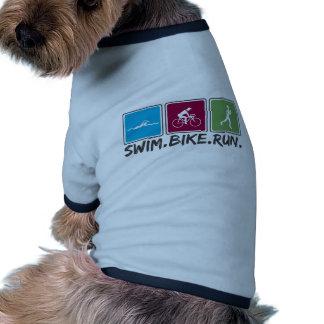 swim bike run (triathlon) pet shirt