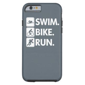 Swim. Bike. Run...Triathlon Pride. Tough iPhone 6 Case