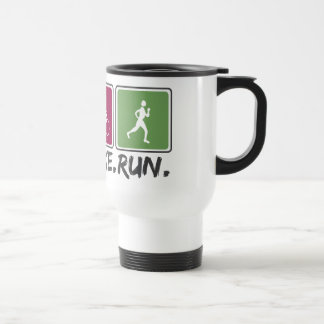 swim bike run (triathlon) travel mug