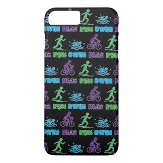 Swim Bike Run Triathlon Triathlete Ironman Race iPhone 8 Plus/7 Plus Case