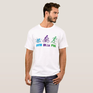 Swim Bike Run Triathlon Triathlete Ironman Race T-Shirt