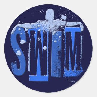 SWIM CLASSIC ROUND STICKER
