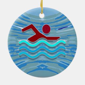 Swim Club Swimmer  2 side printed ORNAMENTS
