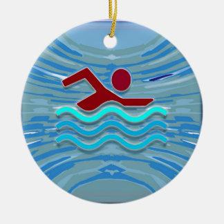 Swim Club Swimmer Exercise Fitness NVN254 Swimming Ceramic Ornament
