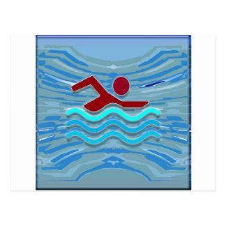 Swim Club Swimmer Exercise Fitness NVN254 Swimming Postcard