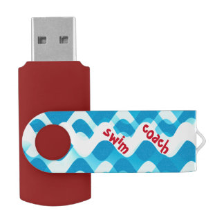 Swim Coach Custom USB Swivel Flash Drive Sports