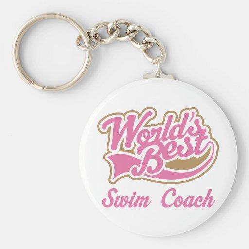 Swim Coach Gift Keychain