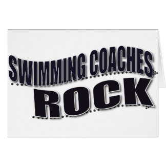 Swim Coach Gifts Card