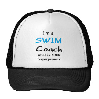 Swim coach hats