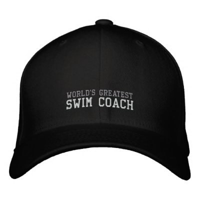 Swim Coach, World's Greatest Hat Embroidered Baseball Caps